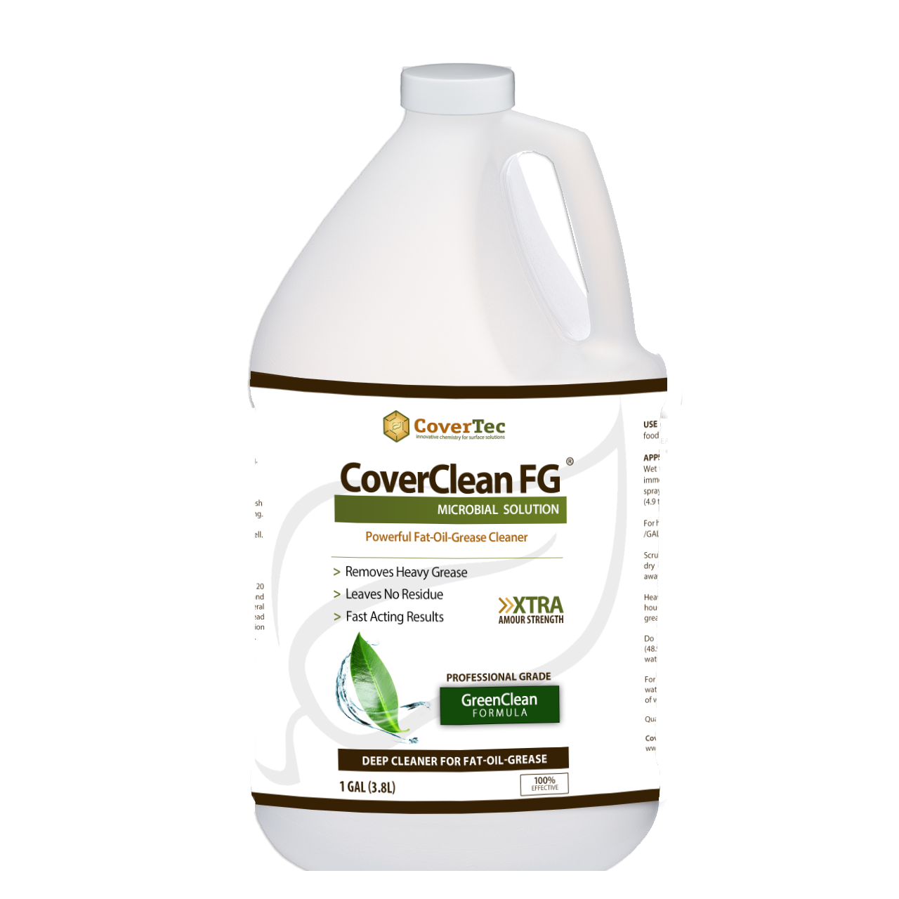 CoverClean FG Microbial Cleaner For Fat, Food, Oil & Grease